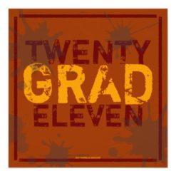 Have A Party Grunge Graduation Party Invitation Square Invitation Card