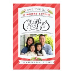 Have Yourself A Merry Little Christmas Photo Card Invitation Card