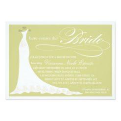 Here Comes The Bride | Bridal Shower Invitation Card