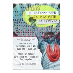Hipster 4Th Of July Party Invitation Card