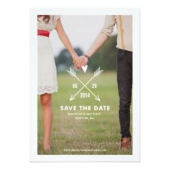 Hipsters   Save The Date Announcement Invitation Card