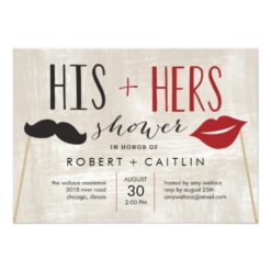 His & Hers Couple Shower Invitation Card