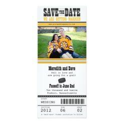 Hocket Ticket Wedding Save The Date Invitation Card