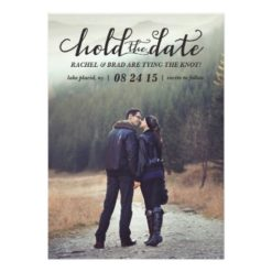 Hold The Date Photo Save The Date Card Invitation Card