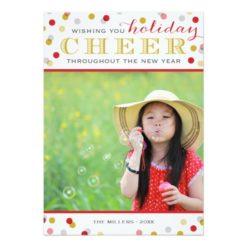 Holiday Cheer Modern Christmas Photo Card Invitation Card