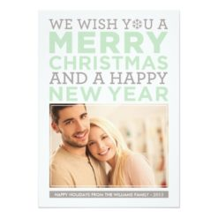 Holiday Photo Card | Modern Christmas Wishes Invitation Card