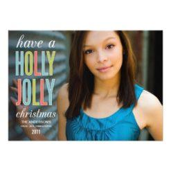 Holly Jolly Christmas | Holiday Greeting Card Invitation Card