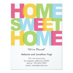 Home Sweet Home Moving Announcement Invitation Card