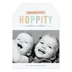 Hoppy Easter   Photo Easter Card Invitation Card