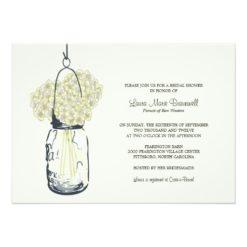 Hydrangea & Mason Jar Bridal Shower Invitation Card