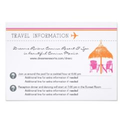 Information Card - Boarding Pass Invitation Card
