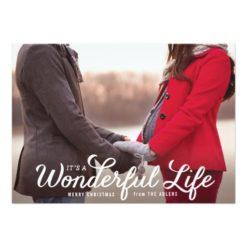 It'S A Wonderful Life Holiday Photo Card Invitation Card