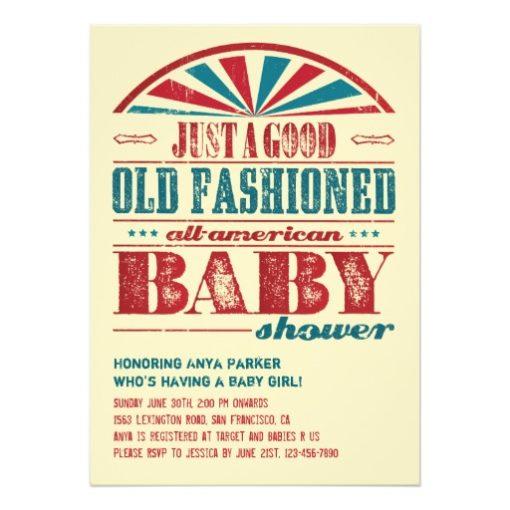 July 4 Bbq Baby Shower Invitation Card