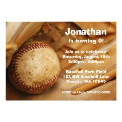 Kids Baseball Birthday Party Invitation Card