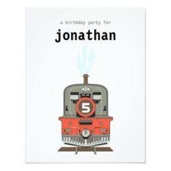 Kids Birthday Invitation - Train Invitation Card