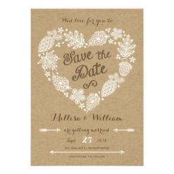 Lacy Leaves - Fall In Love Save The Date Invitation Card