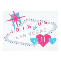 Las Vegas Lucky In Love Sate The Date Invitation Card