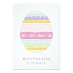 Layered Egg Non-Photo Easter Card - Mauve Invitation Card