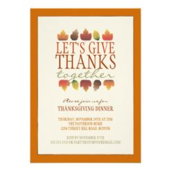 Leaves Of Autumn Thanksgiving Dinner Invitation Card