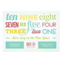 Let'S Count Down New Year'S Eve Party Invitation Card