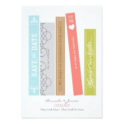 Library Book Save The Date Invitation Card