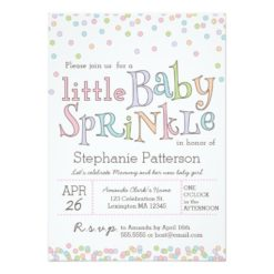 Little Baby Sprinkle Confetti Shower Invitation Card