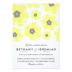 Love In Bloom Wedding Invitation Card