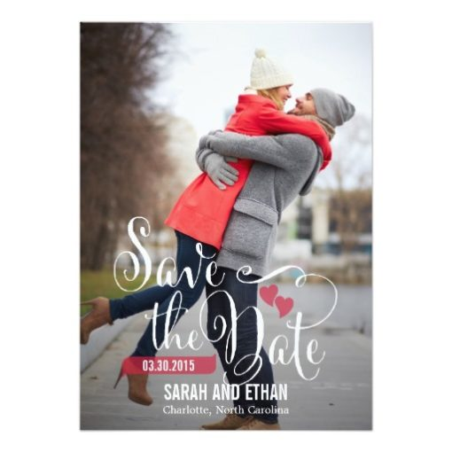 Lovely Request Save The Date - Editable Color Invitation Card