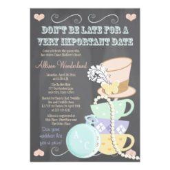 Mad Hatter Bridal Shower Invitation Card