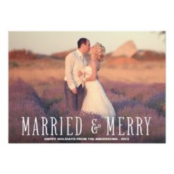 Married & Merry | Holiday Photo Card Invitation Card
