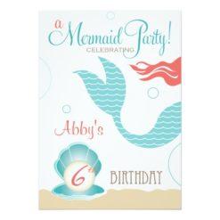 Mermaid Party | Birthday Invitation Card