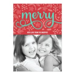 Merrily Illustrated Holiday Photo Cards Invitation Card