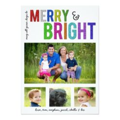 Merry And Bright | Holiday Photo Card Invitation Card