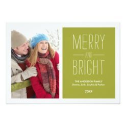 Merry & Bright | Holiday Photo Card Invitation Card