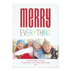 Merry Everything | Holiday Photo Card Invitation Card