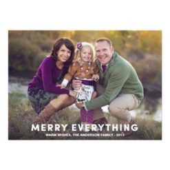 Merry Everything Overlay | Holiday Photo Card Invitation Card