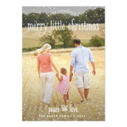 Merry Little Christmas Holiday Photo Card Invitation Card