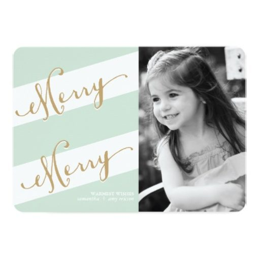 Merry Merry - Holiday Photo Greeting Card Invitation Card