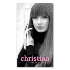 Models And Actors Modern Headshot Iii Double-Sided Standard Business Cards (Pack Of 100)