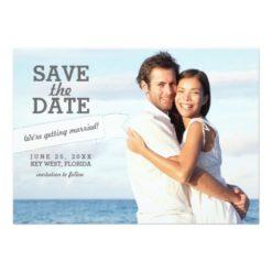Modern Banner Save The Date Wedding Photo Card Invitation Card