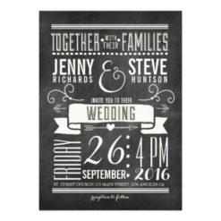 Modern Chalkboard Wedding Invitation Card