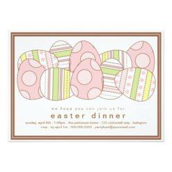 Modern Decorated Eggs Easter Dinner Invitation Card