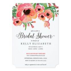 Modern Floral Bridal Shower Invitation Card