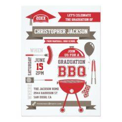 Modern Gradation Bbq Invitation Card