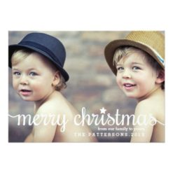 Modern Merry Christmas Big Photo Card Invitation Card