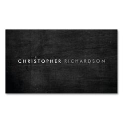 Modern & Minimal On Black Wood Double-Sided Standard Business Cards (Pack Of 100)