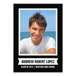 Modern Photo Graduation Invitation Card
