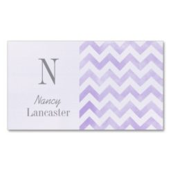 Monogram Initial Chevron Mommy Cards Double-Sided Standard Business Cards (Pack Of 100)