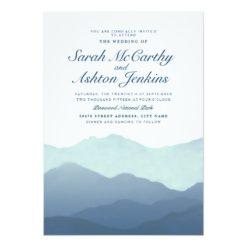 Mountain Range Wedding Invitation Card