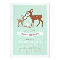 Hello Deer! Baby Shower Invitation Card